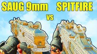 SAUG 9MM vs SPITFIRE! BLACK OPS 4 BEST SUBMACHINE GUN IN BLACK OPS 4 BEST GUNS AFTER PATCH 1.10!