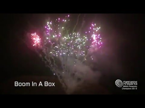 Fantastic Fireworks Boom in a Box - 50 shot barrage
