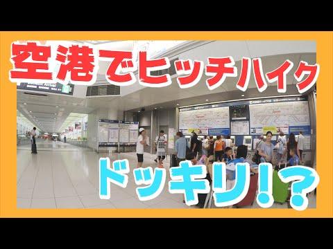 もしもヒッチハイク中のメンバーがいきなり空港に現れたらどんな反応をする!?【ヒッチハイクの旅】