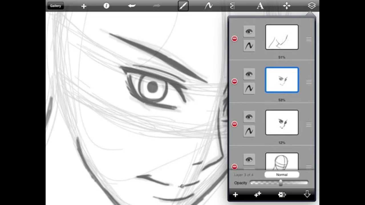 How To Draw Anime Faces for IPAD- Tutorial part 1 - YouTube