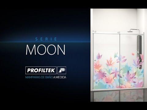 Serie MOON de mamparas de baño correderas de PROFILTEK
