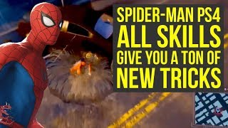 Spider Man PS4 Skills EVERYTHING WE KNOW SO FAR (Marvels Spiderman PS4 Gameplay)
