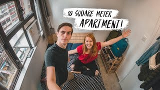 Tiny HONG KONG APARTMENT TOUR! + Sharing Our First Impressions 🇭🇰