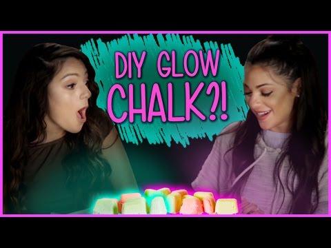 DIY Glow in the Dark Chalk?! | Niki and Gabi DIY or DI-Don't