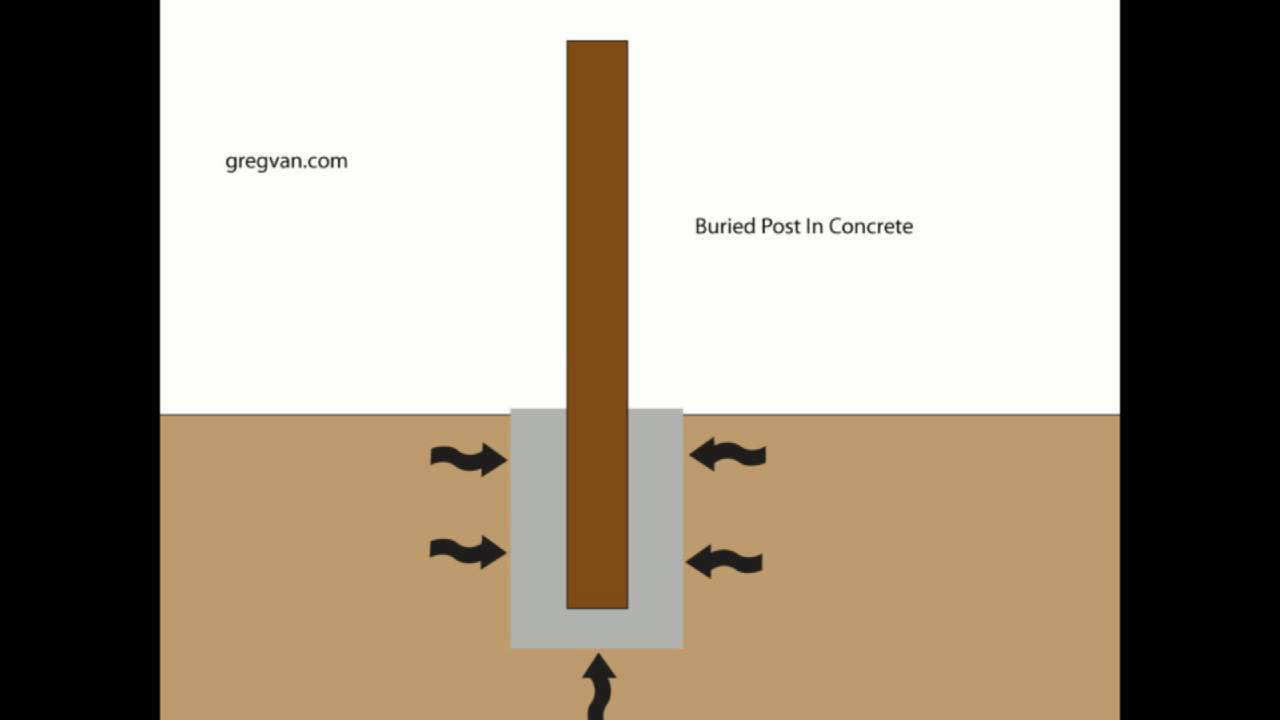 Why Do Fence Posts Rot And Break Wood Fencing Damage