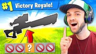 The 1 GUN CHALLENGE in Fortnite: Battle Royale! (HARD)