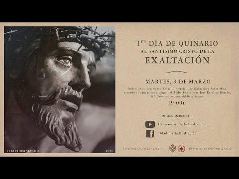 Primer día de Quinario al Santísimo Cristo de la Exaltación
