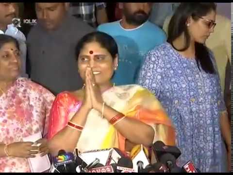 YS-Vijayamma-Comments-On-Yatra-Press-Meet