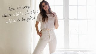 How To Keep White Clothes White In The Laundry | Dearly Bethany