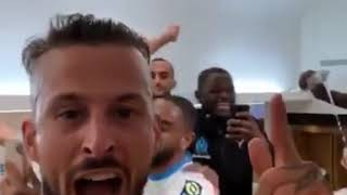 Marseille Dressing Room Celebrations After Beating PSG 1-0 | 5 Red Cards