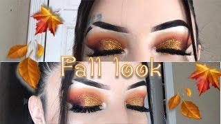 fall glitter makeup tuturial
