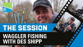 A thumbnail for the match fishing video Waggler Fishing With DES SHIPP | The Session Part 6 | Preston Innovations