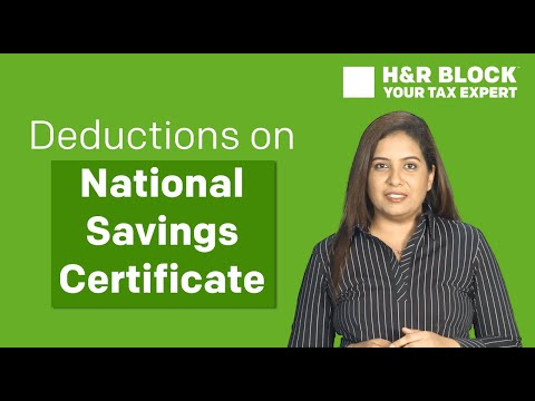 Tax deductions on National Savings Certificate