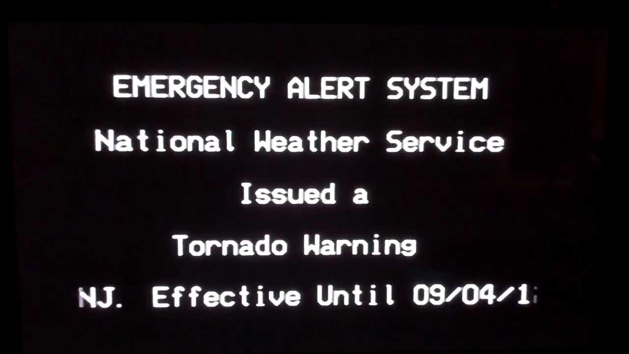Rare Tornado Warning On Tv Youtube