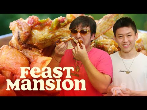 Joji and Rich Brian Make Spicy Indonesian Fried Chicken | Feast Mansion
