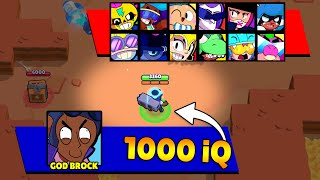 1000iQ GOD BROCK Broken All Brawlers! Brawl Stars Funny Moments & Wins & Fails & Glitches ep.388