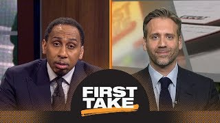 Stephen A. Smith challenges Scottie Pippen: LeBron James will 'muscle' Celtics   First Take   ESPN