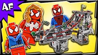 Lego SpiderMan WEB WARRIORS Ultimate Bridge Battle 76057 Stop Motion Build Review