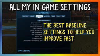 ALL MY IN GAME SETTINGS   THE BEST BASELINE SETTINGS TO HELP YOU IMPROVE FAST