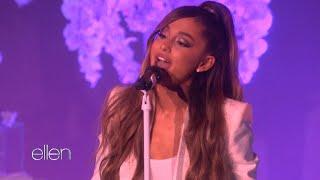 Ariana Grande Chokes Up During Performance on 'Ellen'