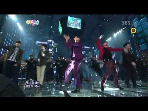 슈퍼주니어 [Sexy, Free & Single] @SBS 2012 가요대전 The Color of K-pop 20121229