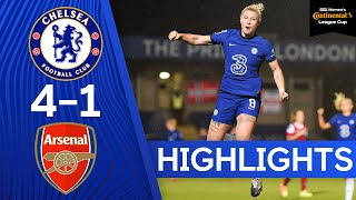 Chelsea 4-1 Arsenal | Beth England Scores 50th Goal For The Blues | Conti Cup Highlights