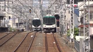 京阪13000系13021F試運転 森小路通過