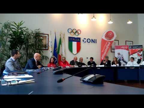 Fabio Schiavolin (Snai) alla presentazione degli Special Olympics
