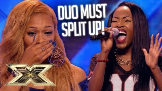 OMG! Two friends go their separate ways in a series of ROLLERCOASTER auditions! | The X Factor UK