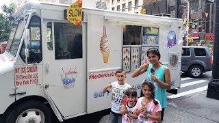 Buying Ice Cream from the Ice Cream Truck in New York City - Vlog