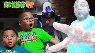 MR. FREEZE FROZE MOM AND DAD! DC Kids Secret Box Challenge!