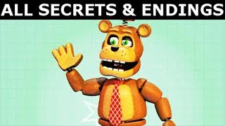 FNAF 6 - All Secrets, Easter Eggs & All Endings (Freddy Fazbear's Pizzeria Simulator)