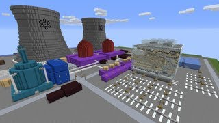 Minecraft: Nuclear Power Plant Speed Flyover