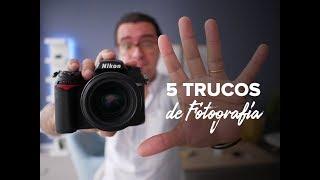 5 TRUCOS DE FOTOGRAFÍA que funcionan con CUALQUIER cámara de fotos