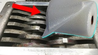 SHREDDING BUBBLE WRAP | Most Oddly Satisfying Video In The World | Shredding Stuff