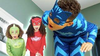 PJ Masks in Real Life 🌟 Giant Catboy 🌟 PJ Masks Official