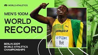 World Record - 100m Men Final Berlin 2009