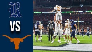 Week 3 2019 #12 Texas vs Rice Full Game Highlights 9/14/2019