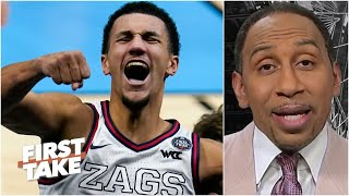 Stephen A. reacts to Jalen Suggs' incredible game-winning buzzer-beater for Gonzaga | First Take