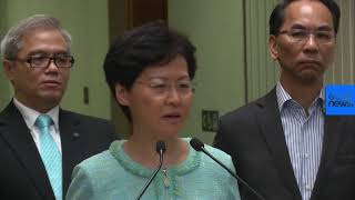 Live | Hong Kong's Carrie Lam holds news conference