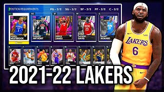 USING THE 2021-22 LA LAKERS IN NBA 2k21 MyTEAM! ARE THEY A SUPER TEAM? (SQUAD BUILDER)