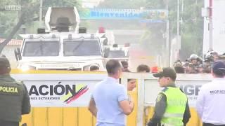 Venezuela crisis: The moment troops crash through border - BBC News
