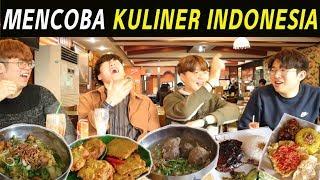 ORANG KOREA MENCOBA MAKAN KULINER INDONESIA I 인도네시아 음식 먹기 part.2