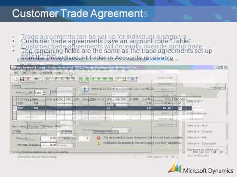 Dynamics AX 2009 Customer specific Pricing