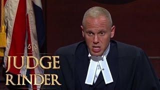 Judge Rinder Gives a Suspicious Defendant a Serious Warning   Judge Rinder