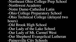 Northeast Ohio school closings and delays: Jan. 31, 2017