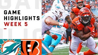 Dolphins vs. Bengals Week 5 Highlights | NFL 2018