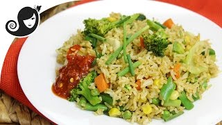 How to Make Low-Fat Vegetable Stir Fried Rice | Vegetarian/Vegan
