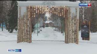 В Омске заканчиваются работы по праздничному оформлению новогодних локаций