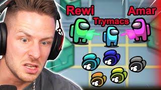 Trymacs ist DRITTER IMPOSTER - Amar & ich sind die klügsten Among US Spieler der Welt!